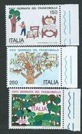 Italia 1982; Giornata Del Francobollo, Serie Completa Di Bordo Destro. - 6. 1946-.. Repubblica