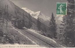 74 CHAMONIX MONT BLANC  TRAIN A CREMAILLERE DU MONTENVERS GLACIER DE LA MER DE GLACE EDITEUR JULLIEN JJ 8589 - Chamonix-Mont-Blanc