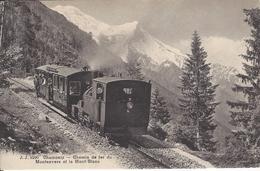 74 CHAMONIX MONT BLANC  TRAIN A CREMAILLERE DU MONTENVERS GLACIER DE LA MER DE GLACE EDITEUR JULLIEN JJ 8590 - Chamonix-Mont-Blanc