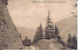 74 CHAMONIX MONT BLANC  TRAIN A CREMAILLERE DU MONTENVERS GLACIER DE LA MER DE GLACE EDITEUR BURGY 5733 - Chamonix-Mont-Blanc