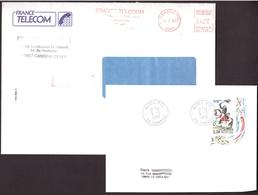 FRANCE '59 CAMBRAI ACTEL PTT' 1989/92  2 MARQUE POSTALE Et OBLITERATION - Marcophilie (Lettres)