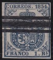 Spanje        .     Yvert  30    ( 2 Scans )  .        O            .          Gebruikt   .   /  .     Cancelled - 1850-68 Koninkrijk: Isabella II