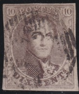 Belgie           .     OBP   6     .        O            .          Gebruikt   .   /  .     Cancelled - 1851-1857 Médaillons (6/8)