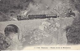 74 CHAMONIX MONT BLANC  TRAIN A CREMAILLERE DU MONTENVERS GLACIER DE LA MER DE GLACE TUNNEL DES PLANARDS JULLIEN JJ 8843 - Chamonix-Mont-Blanc