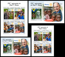 S. TOME & PRINCIPE 2018 - Rotary, P. Harris. Complete Set. Official Issue - Sao Tomé Y Príncipe