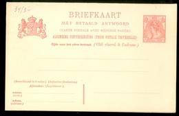 2x BRIEFKAART 1899 VOORDRUK 5 Ct Nvph Nr 60 Ongebruikt Met Antwoord  (11.456a) - Postal Stationery