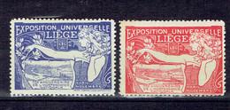 Timbres Vignettes Expo Universelle A Liège 1905 - MNH - Bélgica