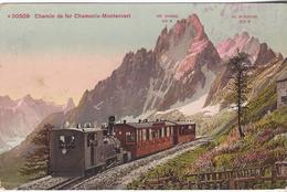 74 CHAMONIX MONT BLANC TRAIN A CREMAILLERE DU MONTENVERS GLACIER DE LA MER DE GLACE CARTE COLORISEE EDI PHOTOGLOB 30509 - Chamonix-Mont-Blanc
