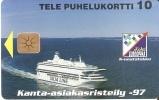 TARJETA DE FINLANDIA DE UN BARCO DE PASAJEROS  SILJA LINE TIRADA 4000 (SHIP-BARCO) NUEVA-MINT - Finlandia