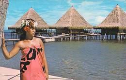 Polynésie Française Bungalow Sur Pilotis BALI HAI Moorea (vahiné)  (Photo Sounam Tahiti C 27218 Tahiti) BV*PRIX FIXE - Polynésie Française