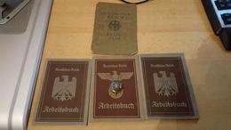 3x Arbeitsbuch Deutsches Reich 1935,1936,1937 Und Ein Reisepass Deutsches Reich 1935. Alles 3. Reich! - Dokumente