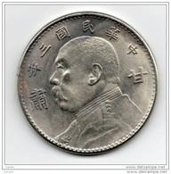 China   Chine : Yuan Shih-kai Dollar 1914 (甘肃 La Province Du Gansu) Rare - China