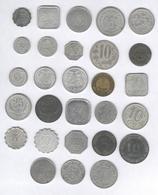 Lot De 28 Monnaies De Nécessité / Coins Of Necessity - France 1916-1924 - Autres