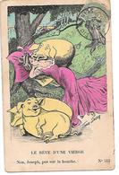 Illustrator - Xavier Sager - Femme, Woman, Frau, Cochon, Schwein, Pig, 'Le Rêve D'une Vierge' - Sager, Xavier