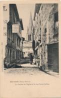H190 - 79 - AIRVAULT - Deux-Sèvres - Le Clocher De L'Église Et La Rue Porte-Caillon - Airvault