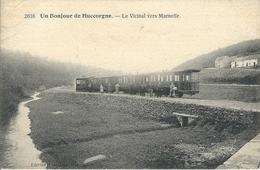 Marneffe - Huccorgne  Tram  : N° 2616  Un Bonjour De Huccorgne - Le Vicinal Vers Marneffe - Burdinne