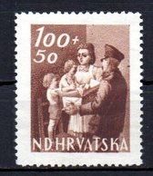 CROATIA 1945 NO GUM - Croatie