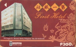 Philippines - Eastern Telecom, 194B, GPT, First Hotel, 300U, Used/Poor Condition R - Philippines