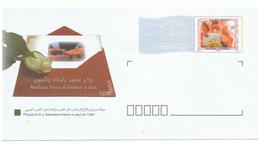 Lettre Maroc Pré-affranchie (Timbrée) à Destination Du Maghreb. Timbre  De 4 Dh. Voeux De Mariage - Marokko (1956-...)