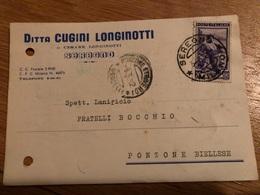 Seregno Cartolina Commerciale Ditta Longinotti - Monza