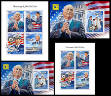 CENTRAL AFRICA 2018 - John McCain. Complete Set. Official Issue - Militaria
