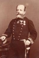 Officier Militaire Francais Medailles Autographe Ancienne Carte Cabinet Photo Appert 1880 - Photographs