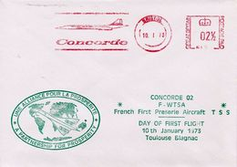 CONCORDE FIRST FLIGHT BRISTOL-TOULOUSE (PARTNERSHIP FOR PROSPERITY) 1973 - FDC