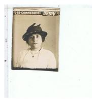 PHOTO ANCIENNE-PHOTO D'IDENTITE D'UNE FEMME AVEC UN CHAPEAU- IDENTIFIE R 18-CANNEBIERE-838 V.R-3,2 X 4,1 Cm - Personnes Anonymes