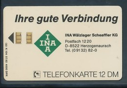 GERMANY Telefonkarte K 104 92 INA Wälzlager Scheaffler KG - Auflage 4000 - Siehe Scan - 15454 - Deutschland