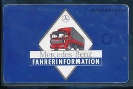 GERMANY Telefonkarte O 317 92 Merdedes Benz Nutzfahrzeuge - Auflage 4000 - Siehe Scan - 15460 - Deutschland