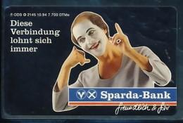GERMANY Telefonkarte O  2145 94 Sparda Bank - Auflage 7700 - Siehe Scan - 15463 - Deutschland