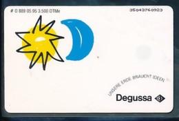 GERMANY Telefonkarte O  889 95 Degussa - Auflage 3500 - Siehe Scan - 15465 - Deutschland