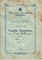 ** R. SCUOLA COMPLEMENTARE.-(FERMO).-PAGELLA SCOLASTICA.-** - Diploma & School Reports