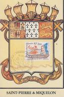 Carte  Maximum  1er  Jour   SAINT  PIERRE  Et   MIQUELON   Canoë  Micmac  1990 - Cartes-maximum