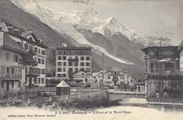 74 CHAMONIX MONT BLANC CAFE RESTAURANT LA TERRASSE HOTEL DE LA POSTE  EDITEUR JULLIEN FRERES JJ 5982 - Chamonix-Mont-Blanc