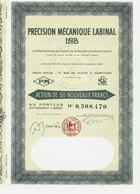 RARE ACTION PRECISON MECANIQUE LABINAL LAB  SAINT OUEN TOUS COUPONS B.E.V.SCANS+HISTORIQUE - Industrie