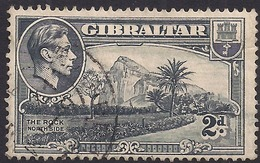 Gibraltar 1938 - 51 KGV1 2d Grey The Rock SG 124a ( L1357 ) - Gibraltar