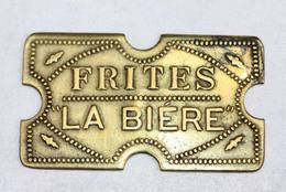 """Jeton De Brasserie Parisienne En Laiton """"La Bière - Frites"""" Paris / Restaurant Token - Professionals / Firms"""