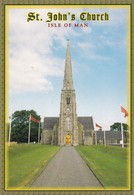 Postcard St John's Church Isle Of Man [ John Hinde ] My Ref  B23173 - Isle Of Man