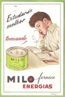 Portug - Mata-Borrão - Blotter - Buvard - Milo Remédio Medicamento Medicina Medicine Farmácia Publicidade Advertising - Blotters