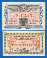 Toulon  Et  Var  2  Billets - Chamber Of Commerce