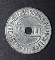 "Jeton De Nécessité Belge ""5 Centimes Défense Sociale / Bescherming Der Maastschappij - Tournai"" Belgique - Monetari / Di Necessità"