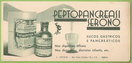 Portugal - Lisboa - Mata-Borrão - Blotter Buvard Remédio Medicamento Medicina Medicine Farmácia Publicidade Advertising - Blotters