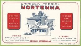 Portugal - Porto - Lisboa - Mata-Borrão - Blotter - Buvard - Empresa Predial Nortenha - Publicidade - Advertising - Blotters