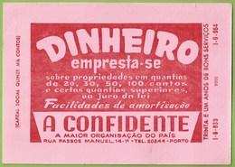 Portugal - Porto - Mata-Borrão - Blotter - Buvard - Companhia De Seguros A Confidente Insurance Publicidade Advertising - Bank & Insurance
