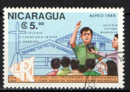 NICARAGUA - 1988 - CHIESA DI SAN FRANCESCO SAVERIO E CHIESA DI FATIMA - USATO - Nicaragua