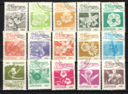 NICARAGUA - 1987 - FIORI - FLOWERS - SCRITTA 1987 - USATI - Nicaragua
