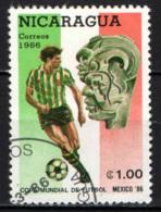 NICARAGUA - 1986 - MONDIALE DI CALCIO IN MESSICO - USATO - Nicaragua