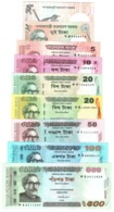 Bangladesh 2, 2, 5, 10, 20, 20, 50, 100, 500 Taka 2010-2014 FDS UNC 9 Pcs Set Lot - Bangladesh