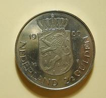 Netherlands 2 1/2 Gulden 1980 - [ 3] 1815-… : Kingdom Of The Netherlands